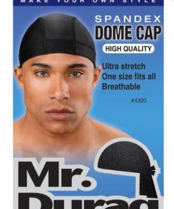 Spandex Dome Caps Black
