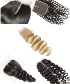 Brazilian Virgin Human Hair - Closures
